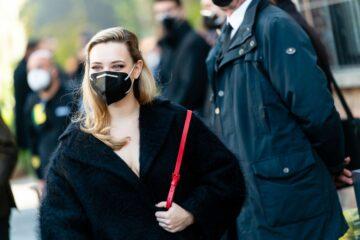 Katherine Langford Arrives Valentino Show Milan Women S Fashion Week