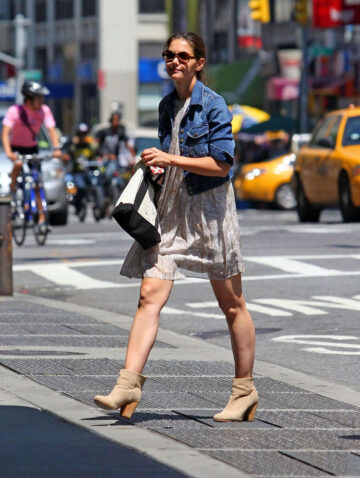 Katie Holems Leggy Candids Out About New York