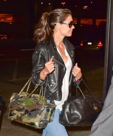 Katie Holmes Arrives Los Angeles International Airport