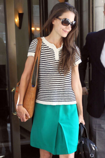 Katie Holmes Leaving Her Apartment New York