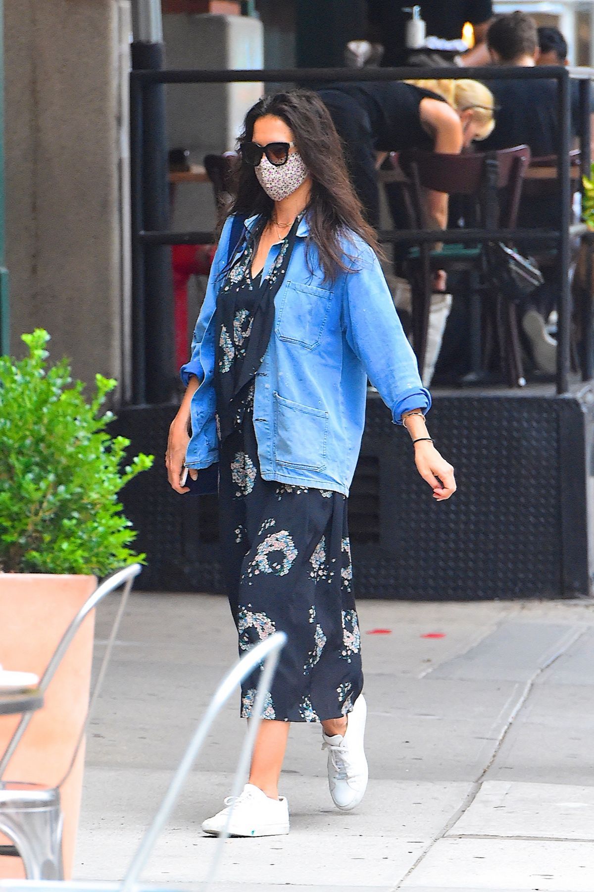 Katie Holmes Out For Dinner New York