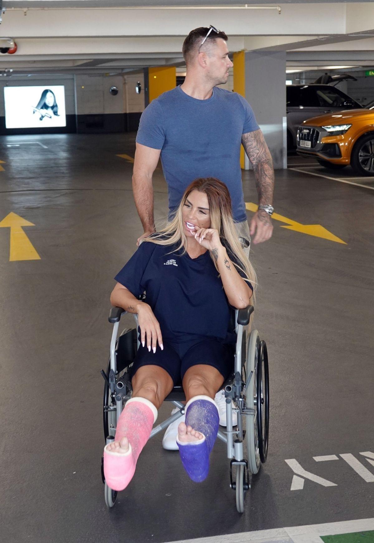 Katie Price Wheelchair Sat Selfridges London