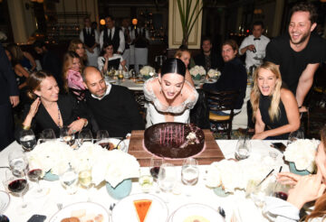 Katy Perry Blowing Out Candles On Her Birthday Cake
