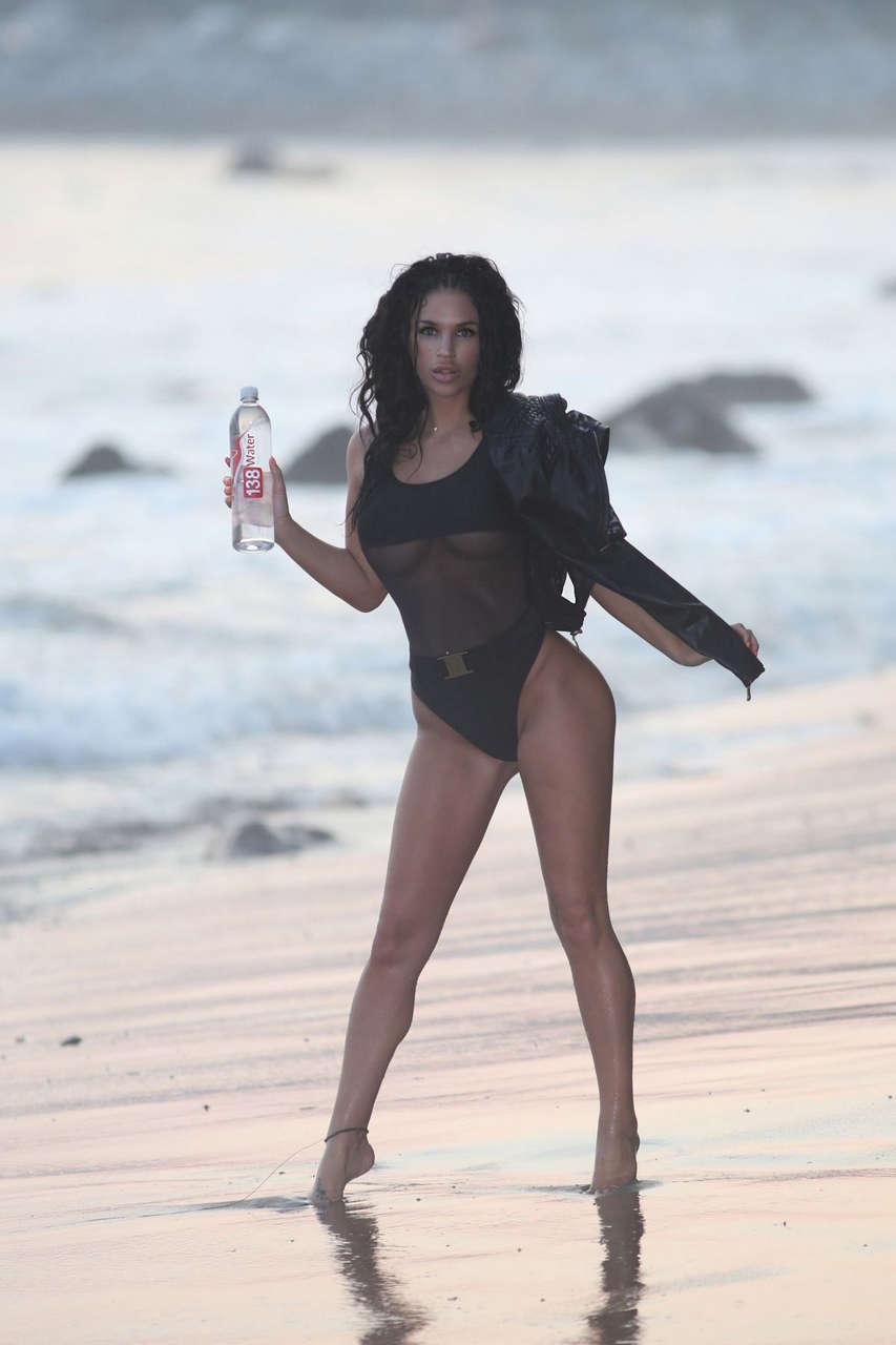 Kaymora Ferrare Black Swimsuit 138 Water Photoshoot Malibu