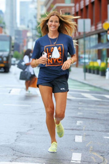 Kelly Bensimon Out Jogging New York