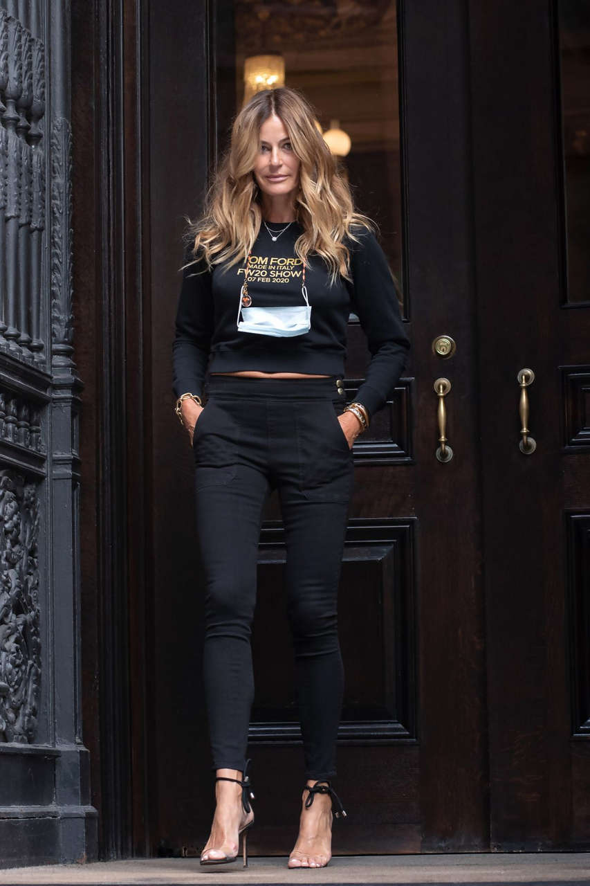 Kelly Bensimon Out With Her Dog Fluffy New York