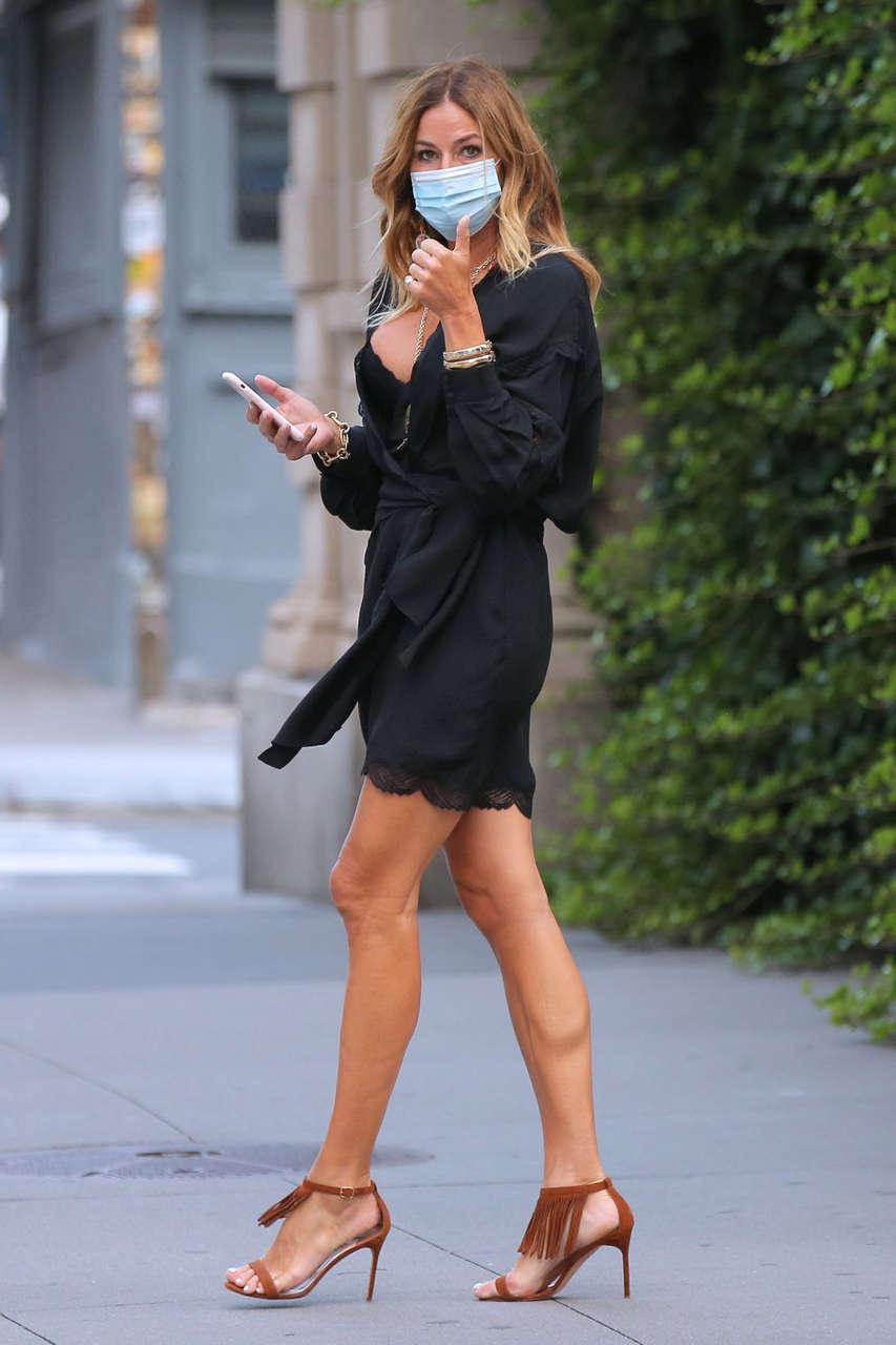 Kelly Bensimon Short Black Dress Out New York