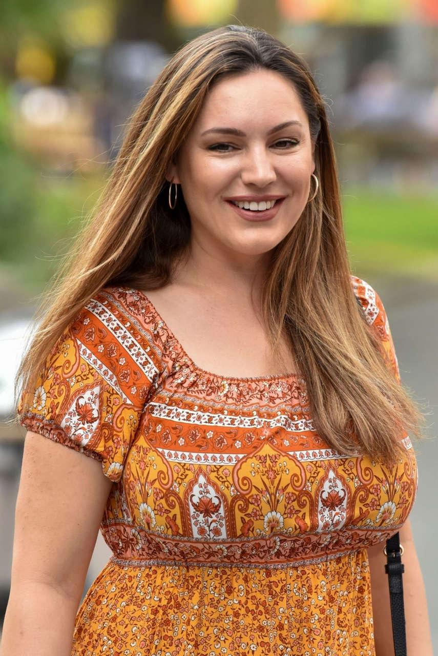 Kelly Brook Arrives Global Radio London