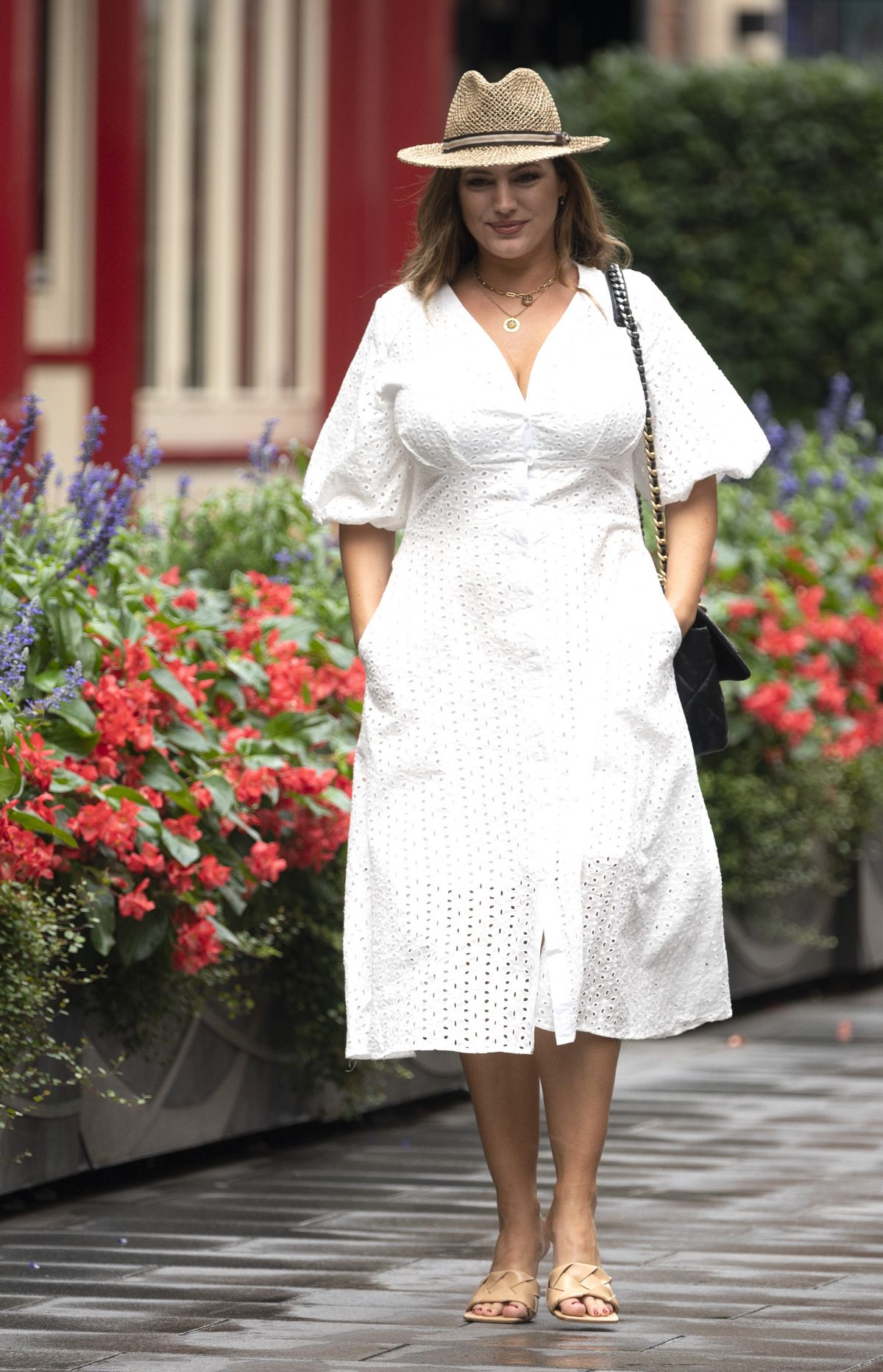 Kelly Brook Out About London