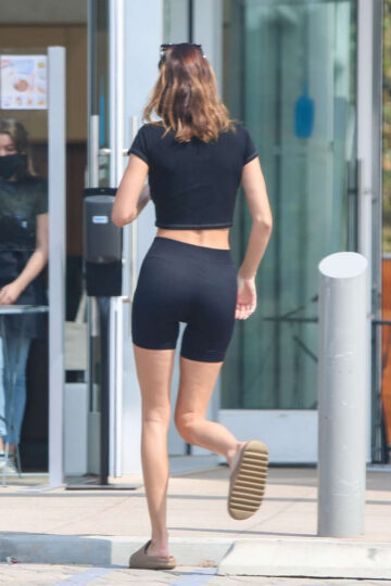 Kendal Jenner Tights Out For Coffee Malibu