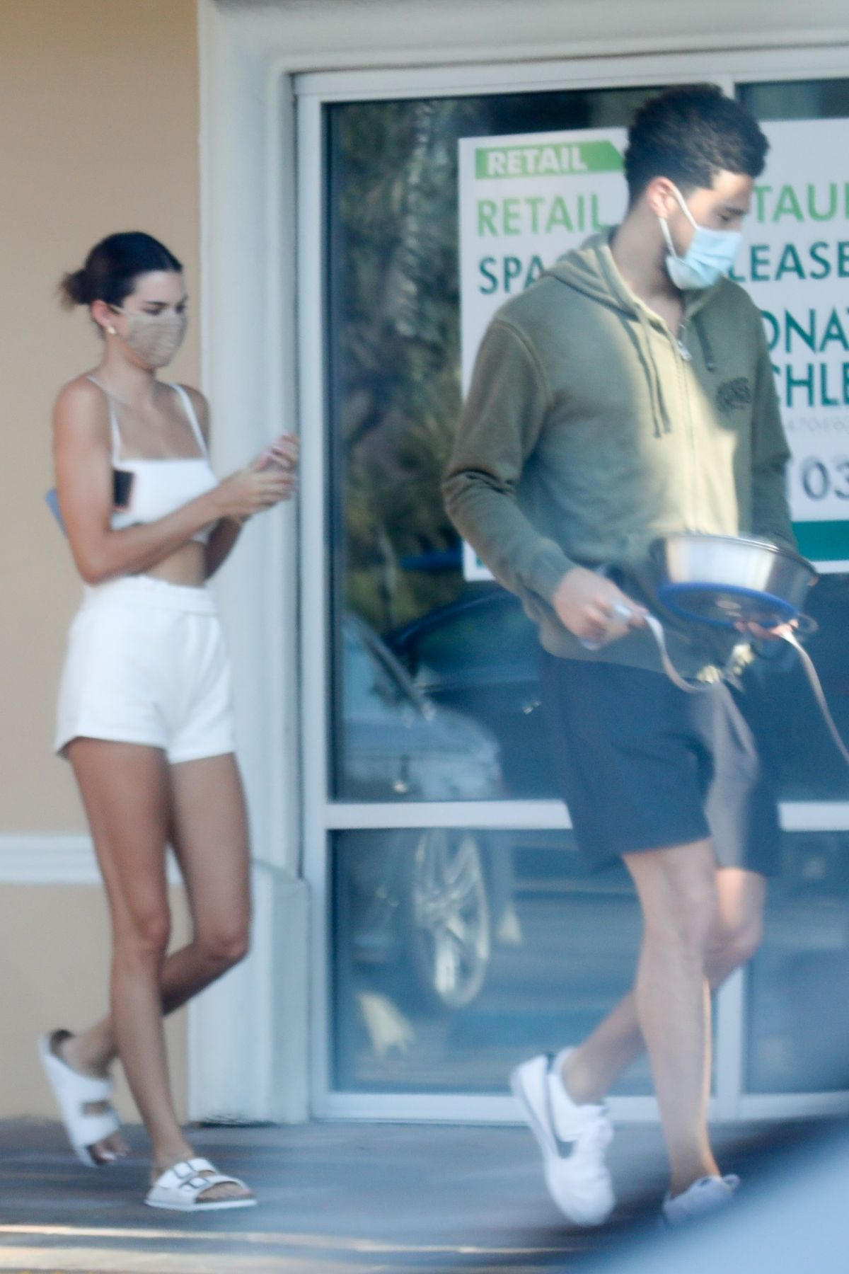 Kendall Jenner Devin Booker Pet Shop Malibu