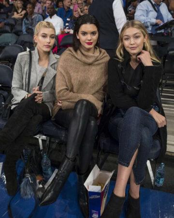 Kendall Jenner Gigi Hadid Hailey Baldwin Knicks Vs Wizards Game