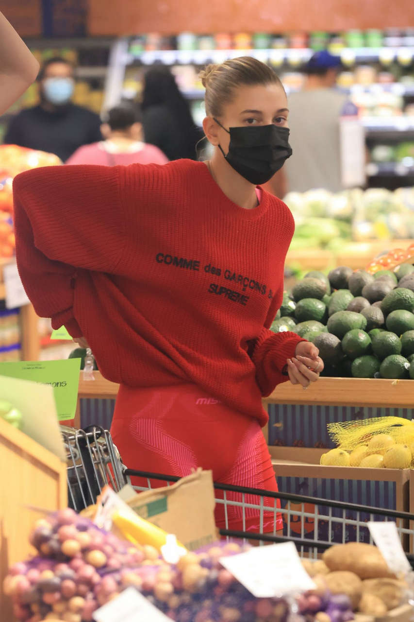 Kendall Jenner Hailey Bieber Shopping Grocvery Los Angeles