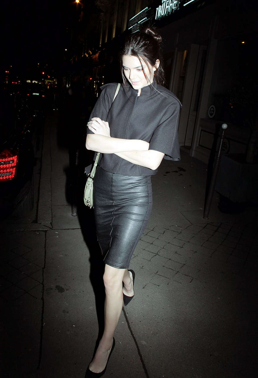 Kendall Jenner Leaves Caviar Kaspia Restaurant Paris