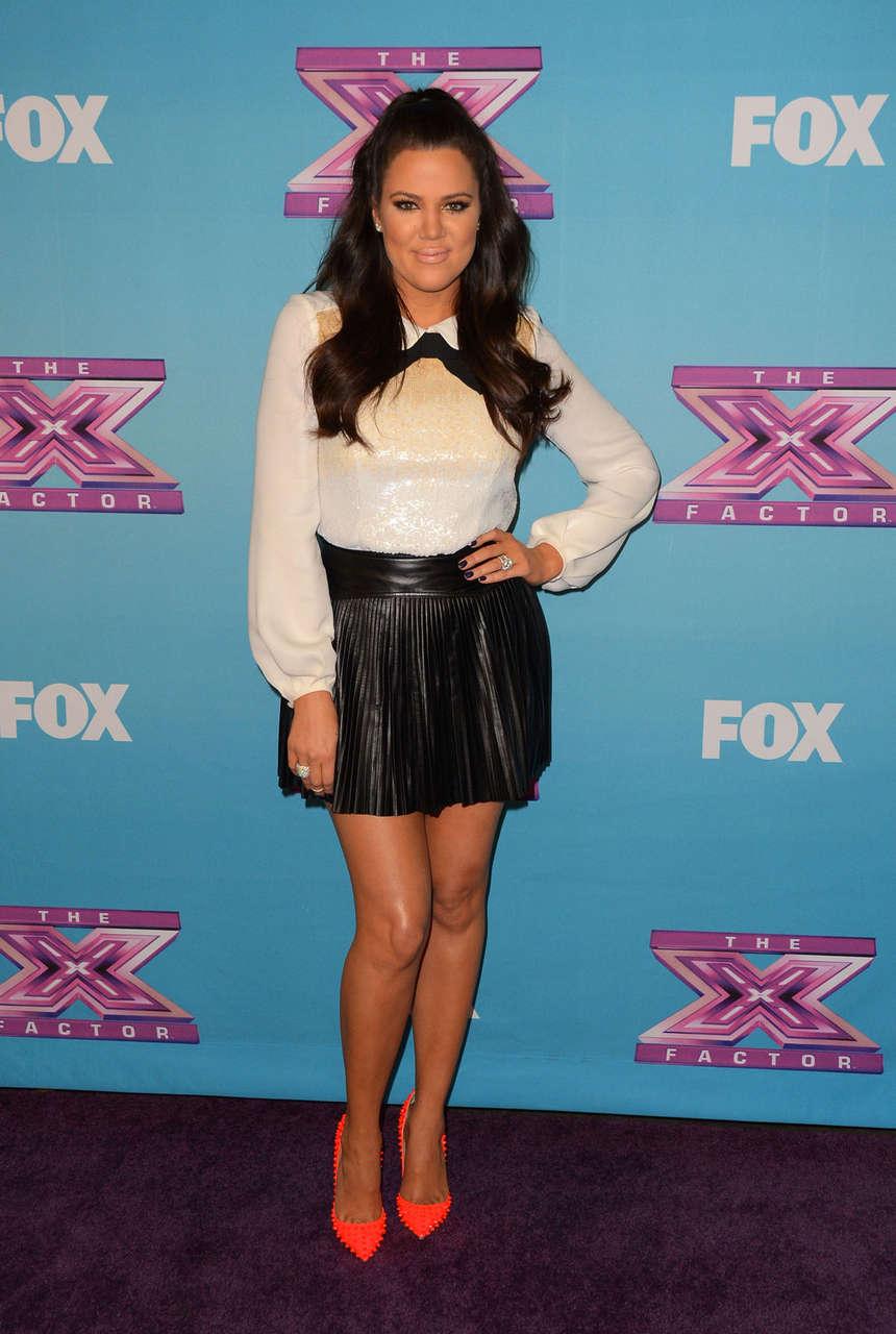 Khloe Kardashian X Factor Season Finale Night 1 Los Angeles