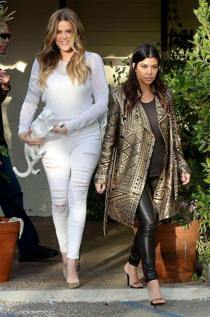 Khloe Kourtney Kardashian Leo Lily Woodland Hills