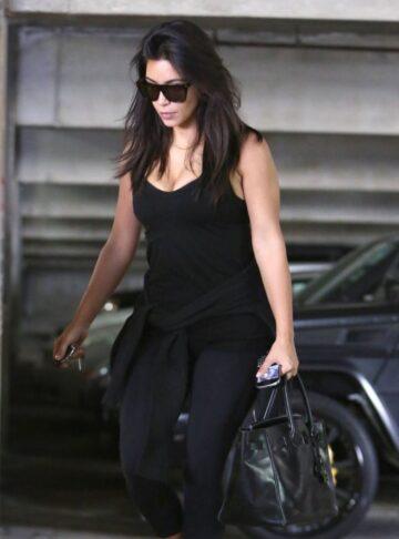 Kim Kardashian Arrives Meeting Encino