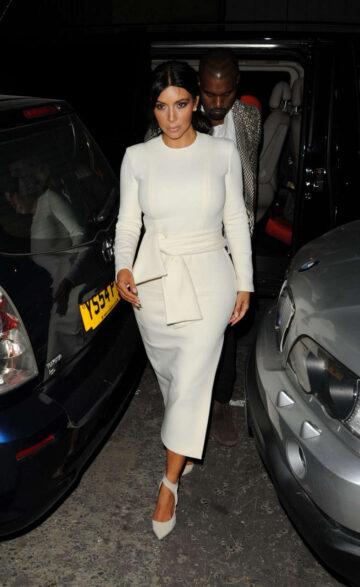 Kim Kardashian Arrivies Victoria Miro Art Gallery East London