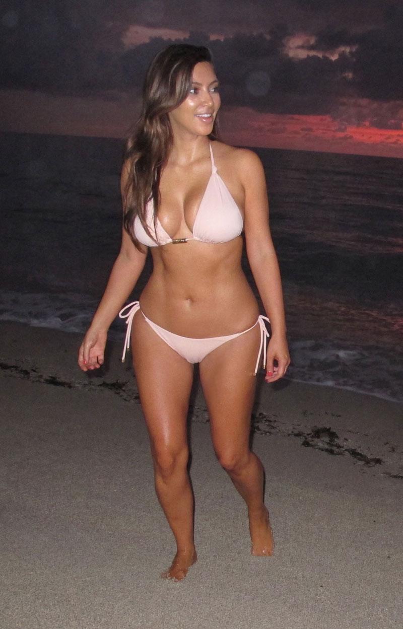 Kim Kardashian Bikini Beach Miami