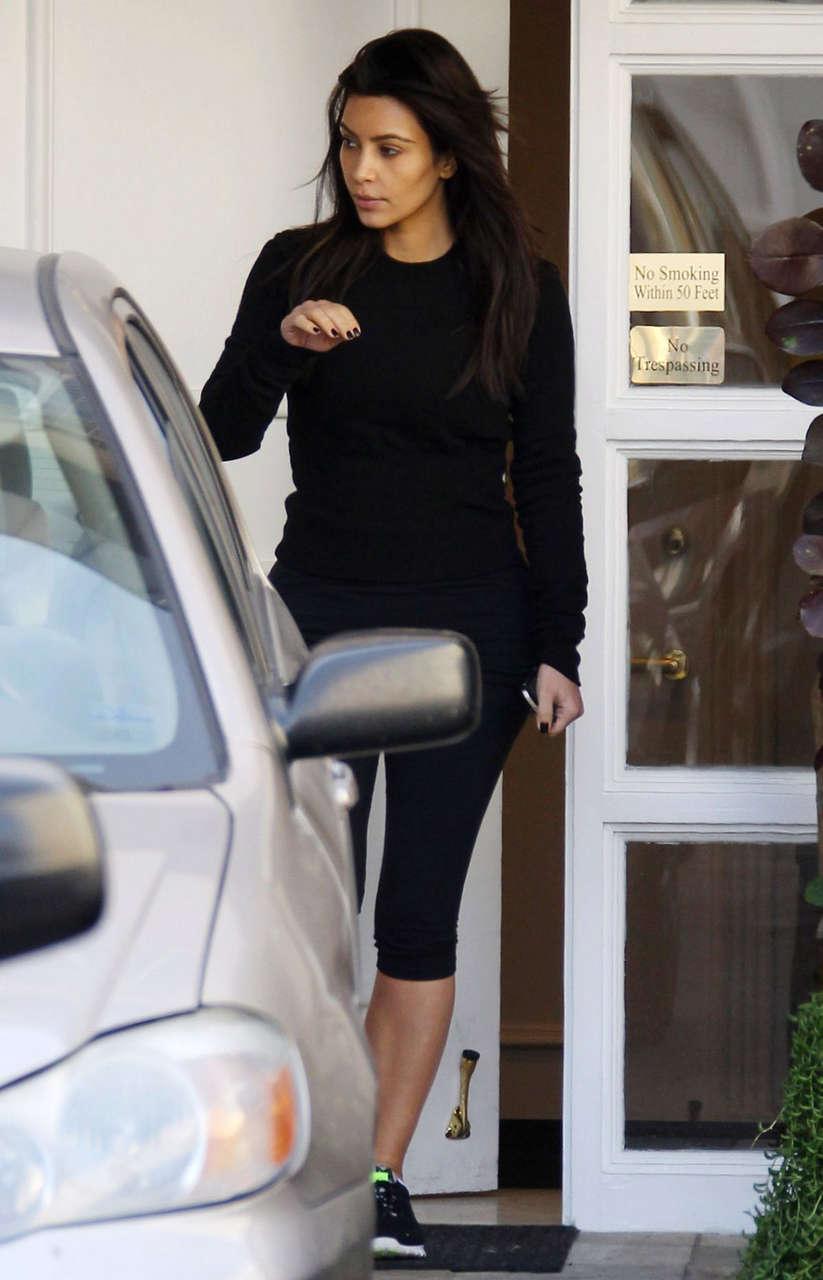 Kim Kardashian Leaves Skin Clinic Beverly Hills