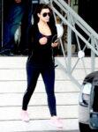 Kim Kardashian Tights Leaving Gym Miami
