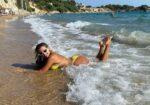 Konstantina Spyropoulou Yellow Bikini Beach Greece