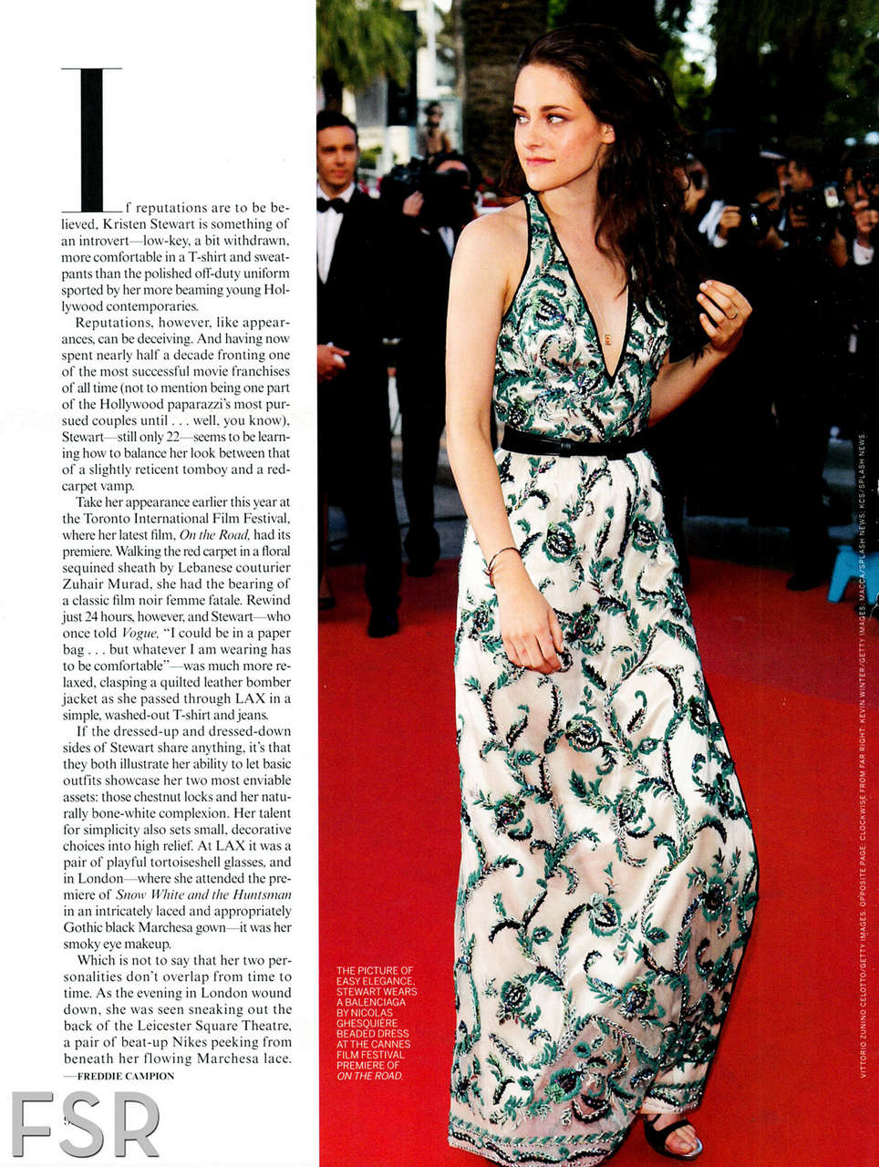 Kristen Stewart Vogue Best Dressed Edition December 2012 Issue