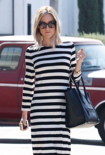 Kristin Cavallari Out For Lunch Fig Olive West Hollywood