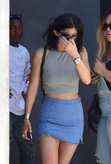 Kylie Jenner Tight Skirt Out West Hollywood