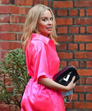 Kylie Minogue Arrives Dinner Party London