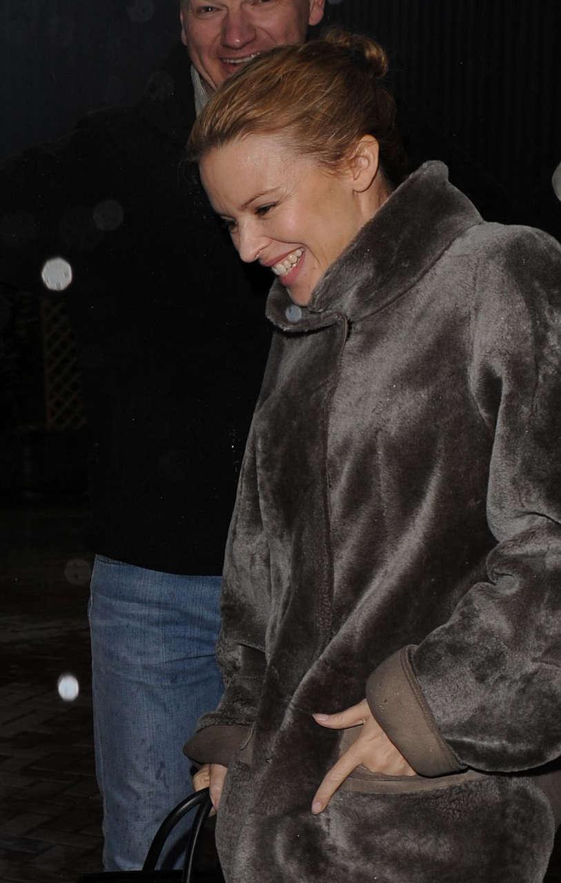 Kylie Minogue Leaves Studio London