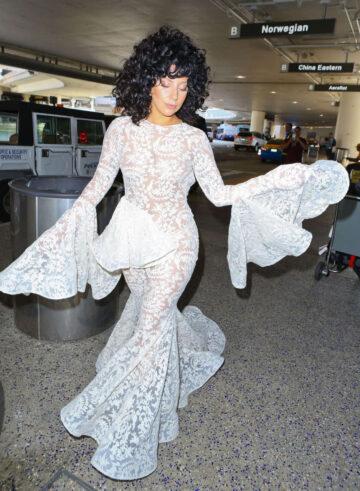 Lady Gaga Arrives Los Angeles International Airport