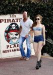 Lady Gaga Bikini Top Shorts Les Pirates Restaurant