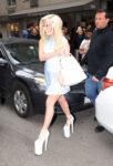 Lady Gaga Leaves Her Hotel Manhattan