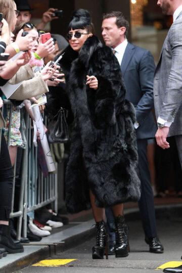 Lady Gaga Leaves Her Hotel Sydney