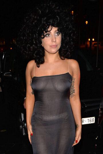 Lady Gaga Leaves L Archidus Jazz Club Brussels