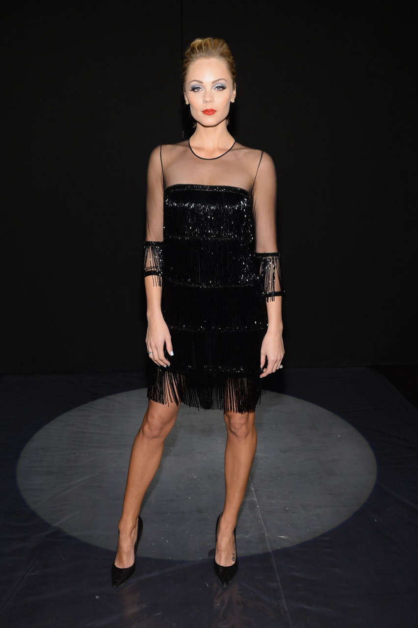 Laura Vandervoort Naeem Khan Fashion Show New York