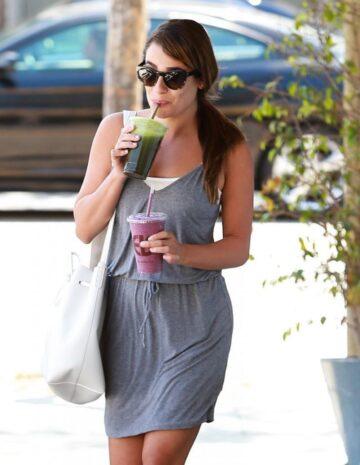 Lea Michele Arrives Earth Bar West Hollywood