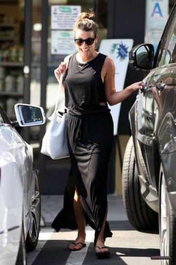 Lea Michele Leaves Earth Bar West Hollywood