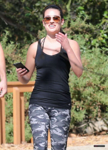 Lea Michele Out Hiking Los Angeles