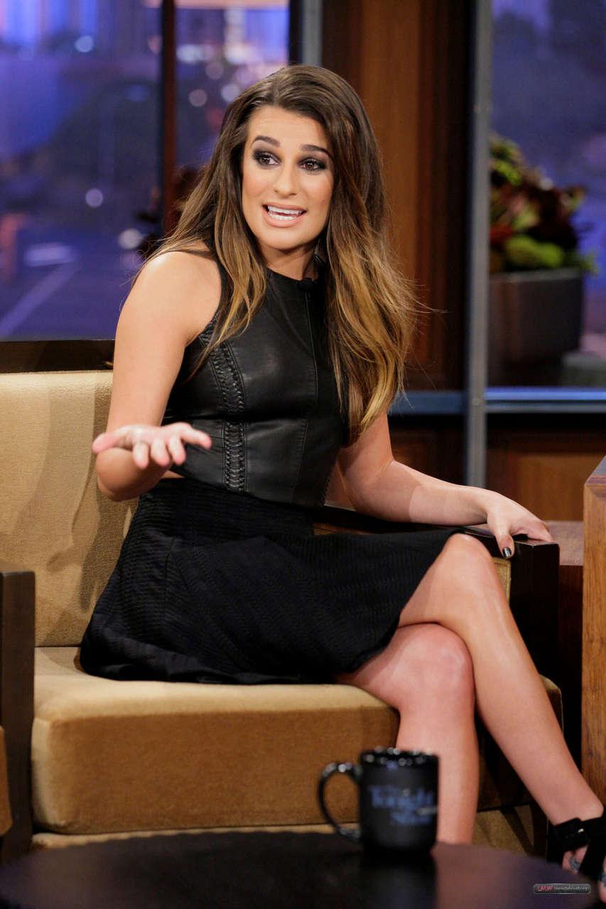 Lea Michele Tonight Show Jay Leno Burbank