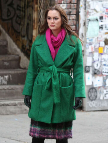 Leighton Meester Gossip Girl Set New York