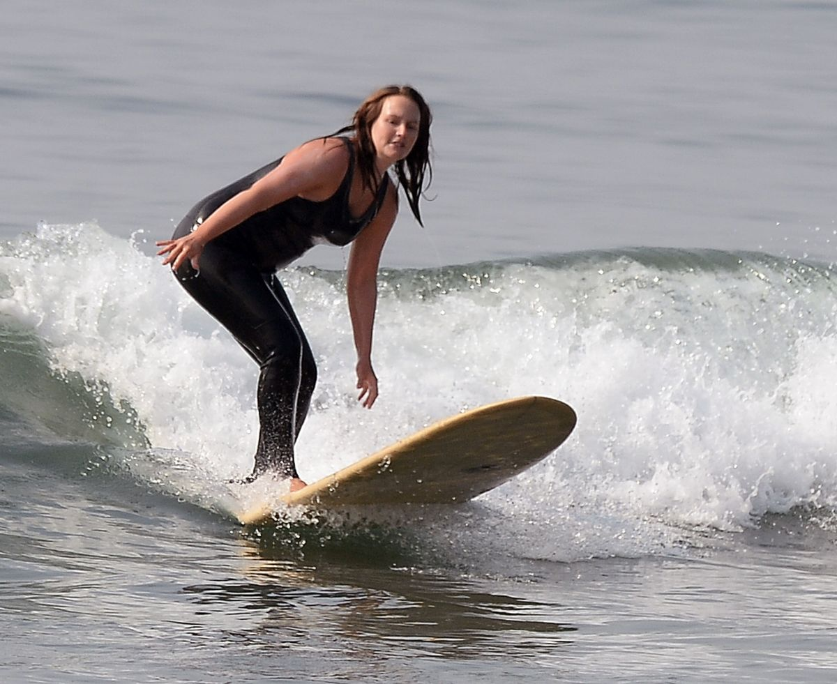 Leighton Meester Out Surfing Malibu