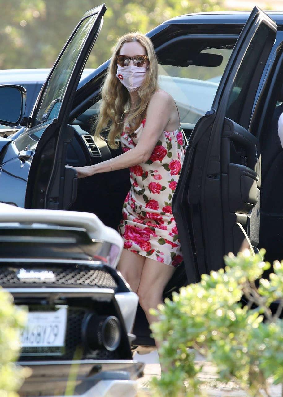 Leslie Mann Arrives Nobu Malibu