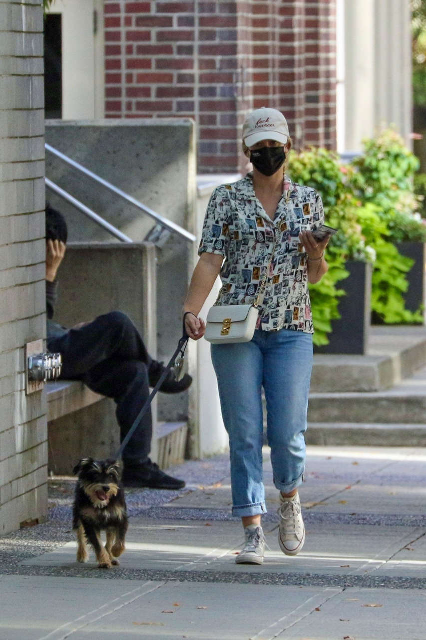 Lili Reinhat Out With Her Dog Vancouver