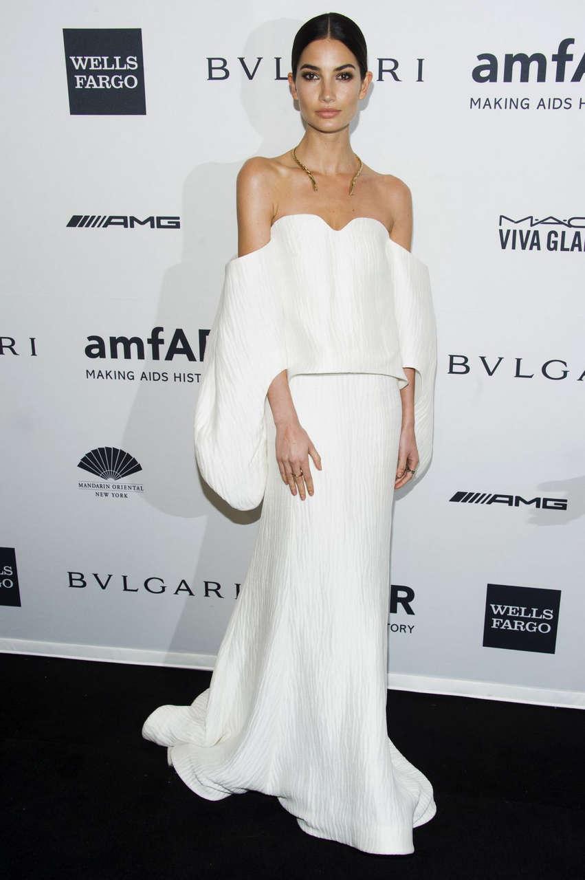 Lily Aldridge 2014 Amfar Gala New York