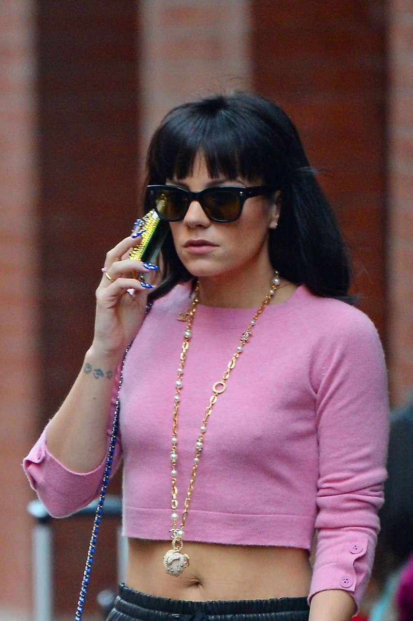 Lily Allen Leaves Mercer Hotel New York
