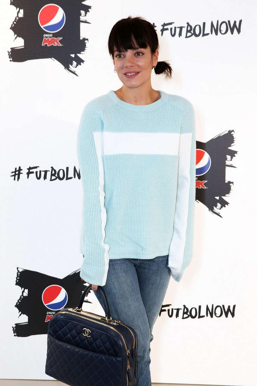 Lily Allen Pepsi Art Football Exhibition London