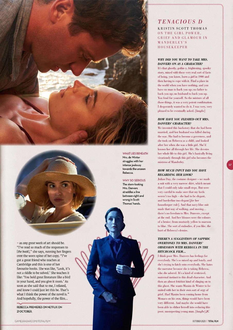 Lily James Total Film Magazine October