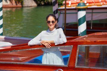 Linda Caridi Arrives 77th Venice Film Festival